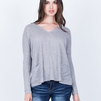 Front Pocket Knit Top