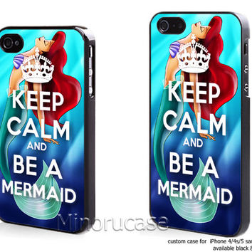 keep calm and Be A Mermaid Custom case For iphone 4/4s,iphone 5,Samsung Galaxy S3,Samsung Galaxy S4 by minorucase on etsy