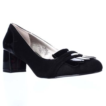 Bandolino Odonna Oxford Dress Pumps, Black/Black, 8 US