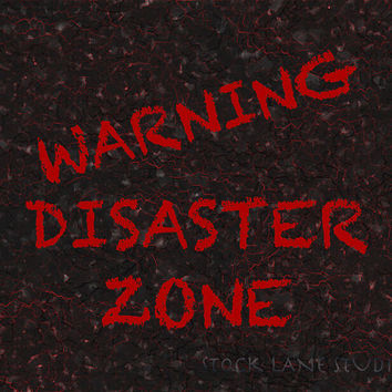 Teen Room Decor, Warning Disaster Zone Print, 8x10 red black sign for him, teen boy wall art, funny poster, warning messy room print,