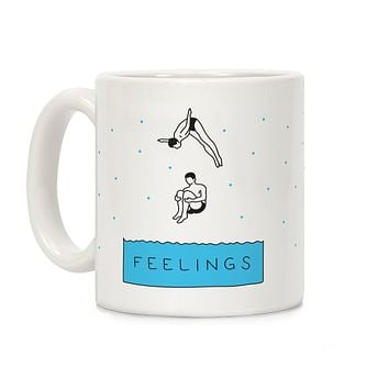 Diving Into Feelings Ceramic Coffee Mug by LookHUMAN