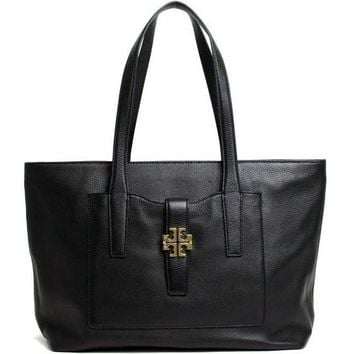 Tory Burch Meyer Pebbled Leather Tote Style No. 18169689 (Hudson Bay)