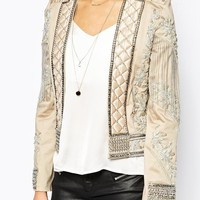 A Star Is Born Allover Luxe Embellished Trophy Jacket at asos.com