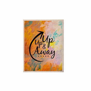 """Ebi Emporium """"Up Up & Away"""" Orange Typography KESS Naturals Canvas (Frame not Included)"""
