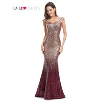 Long Sparkle Evening Party Dress Ever-Pretty 2017 New V-Neck Women Elegant EP08999 Sequin Mermaid Maxi Evening Party Gown Dress