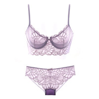 Hot Deal Cute On Sale Sexy Lace Permeable Bra Set Exotic Lingerie [6596639171]