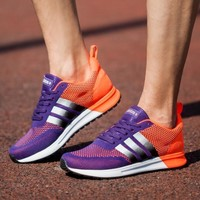 Adidas nmd reflective sliver line Running Sport Casual Shoes purple+orange H-MDTY-SHIN