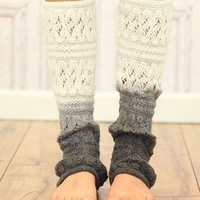 Cream Ombre Leg Warmer