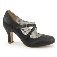 Pinup Couture Flapper Black Mary Jane Pump