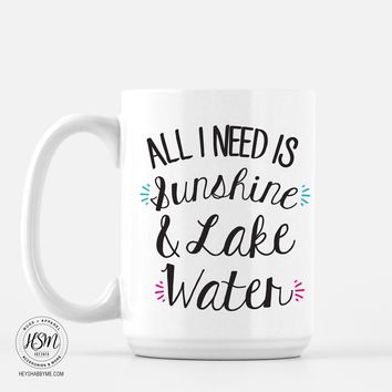 Sunshine and Lake Water - Mug