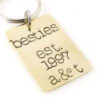 Besties Est. Key Chain - Spiffing Jewelry