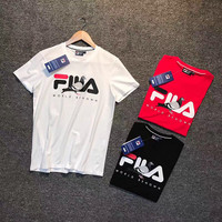 FILA female cotton T-shirt white, black, red