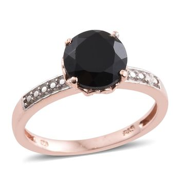Solitaire Black Spinel Ring