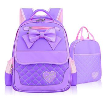 Cute Bow School Bags for Girls Children Backpacks Primary Students Backpacks Waterproof Schoolbag Kids Book Bag