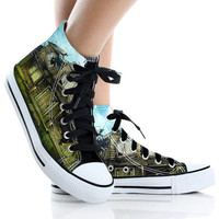 pierce the veil shoes,High Top,canvas shoes,Painted Shoes,Special Christmas Gift,Birthday gift,Men Shoes,Women Shoes