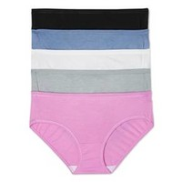 Hanes® Premium Women's Luxuriously Soft with X-Temp Hipster Briefs 5-pack (Colors May Vary)