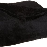 Northpoint Odyssey Ultra Cozy Plush Blanket, Full/Queen, Black