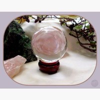 Healing Clear Quartz Crystal Ball & Stand - 55mm