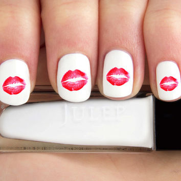 Realistic Kiss Lip Marks Nail Decals-24 ct.