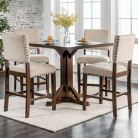 Glenbrook Brown Cherry And Ivory Counter Height Dining Table By Casagear Home