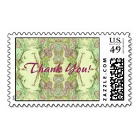 Thank You - Lime and Pink Abstract Stamps