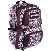 "16.75"" Purple Multiple Compartment Backpack School Book Bag Hiking Daypack"