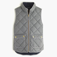 J.Crew Womens Petite Excursion Quilted Vest In Flannel