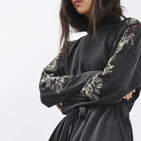 TALL Embroidered Batwing Dress | Topshop