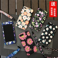 For iPhone 7 / 7plus case, Cute flowers floral 360 full range protection Front+Back cover coque For iphone 6 6S plus Daisy case