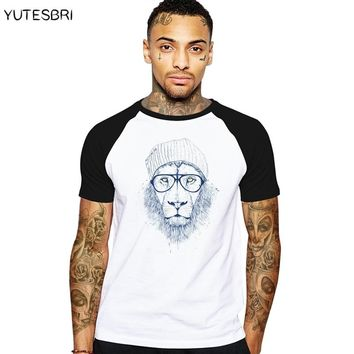 Swag funny Men's Cool lion hip hop russia T Shirt Male Fashion Lion Tops Hipster Summer Tees comics geek Harajuku t-shirt men