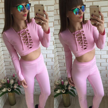 Hot Sale Women's Fashion Print Sportswear Set [9430012036]