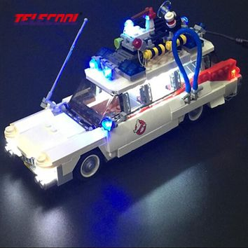 TELECOOL LED Light Up Kit (Only light set) For Ghostbusters Ecto-1 Compatible with Lepin 21108 Model Building Kit Toy