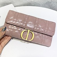Dior New fashion leather wallet purse handbag Pink