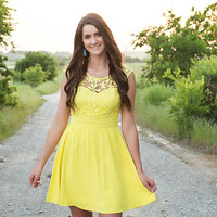Make a Wish Dress-Yellow