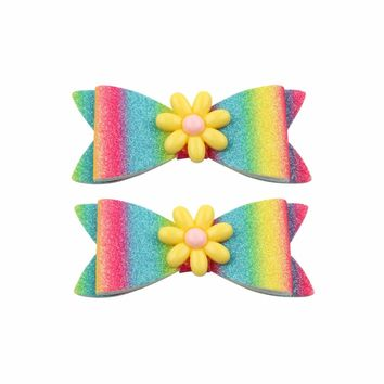 Girls 2Pc  Mermaid Flamingo Hair Bow