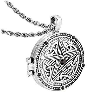 2018 new Supernatural Dean Sam Pentacle Tattoo Locket Box Necklace Protect Rune Amulet Pendant Necklace