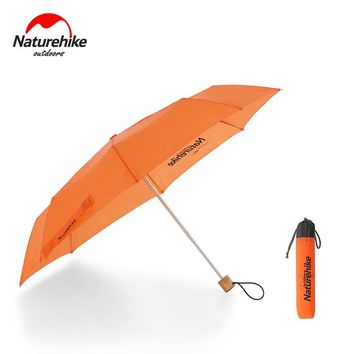 Naturehike Factory 30D coated silicon umbrella outdoor sunshade anti ultraviolet heavy raining strong wind umbrella