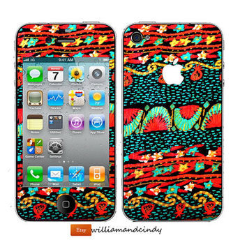 Iphone 5 Skin - Vintage Print -decal sticker - Cali