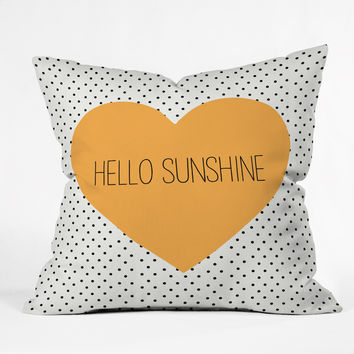 Allyson Johnson Hello Sunshine Heart Throw Pillow