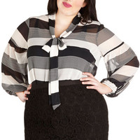 ModCloth Long Sleeve Brunch with the Band Top in Plus