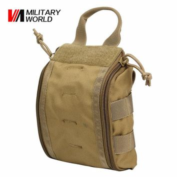 Tactical Molle Emergency Medical First Aid Pouch Vest EDC Tool Bag Magazine Pouch Hunting Survival Utility Cycling Belt Bag