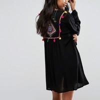 Akasa Embroidered Back Kimono at asos.com