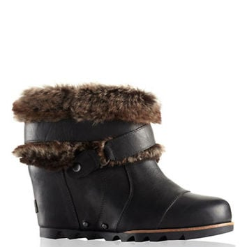 Sorel Joan of Arctic Leather Wedge Ankle Boots