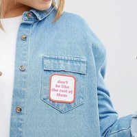 Kitsch Don't Be Like The Rest Of Them Easy to Stick Customisation Badge at asos.com