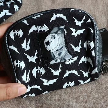 Cartoon The Nightmare Before Christmas Jack style for Cute Bag with metal dog Figure
