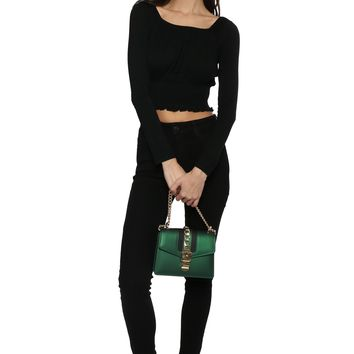 Gab & Kate Square Neck L/S Crop Top