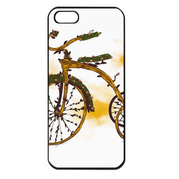 Tree Cycle Apple iPhone 5 Seamless Case (Black)