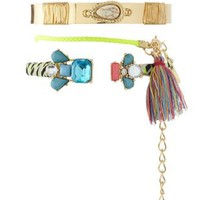 Multi Stackable Mixed Media Bracelets - 3 Pack by Charlotte Russe