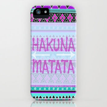 Hakuna Matata iPhone Case by Kristi Kaz | Society6