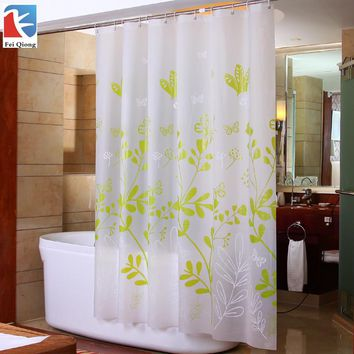 Feiqiong Brand Eco-Friendly PEVA Shower Curtain Bathroom Curtains For Bath Bathing Sheer Waterproof Max Size 200X180CM